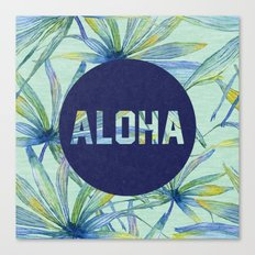 Aloha - blue version Canvas Print