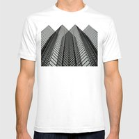 Linear Mirrors Mens Fitted Tee White SMALL