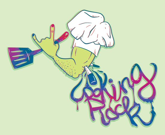cooking rock Art Print