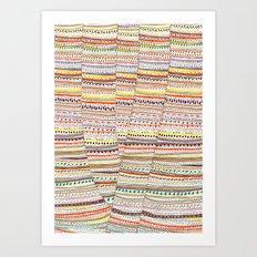 Cone pattern Art Print