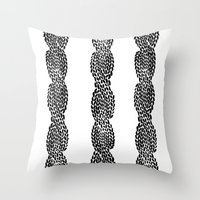 Cable 3 Throw Pillow