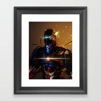 Captain America Cyber Evolution Fan Art Framed Art Print
