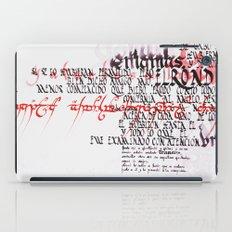 Calligraphic poster IV iPad Case