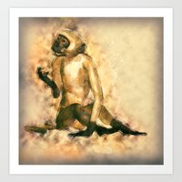 Monkey Modern Art Painting Art Print