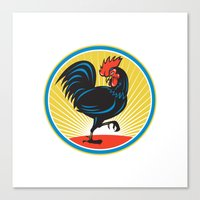 Rooster Cockerel Marchin… Canvas Print