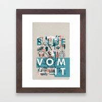 BlueVomit Framed Art Print