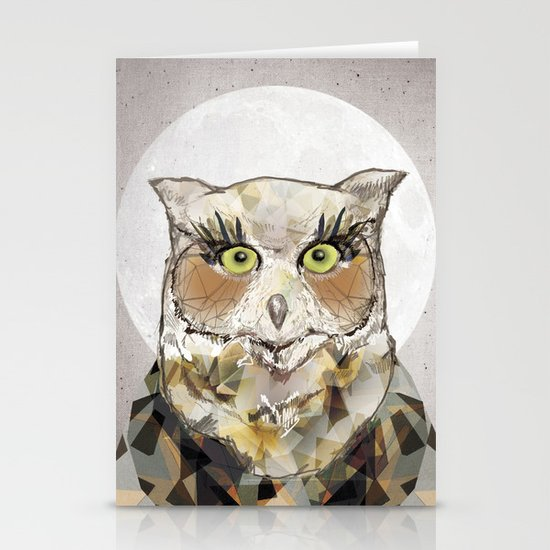 The Great Horned Owl Stationery Card