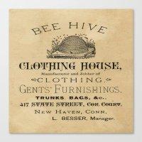 Vintage Bee Hive Canvas Print