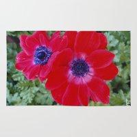 Velvet Red Poppy Anemone… Rug