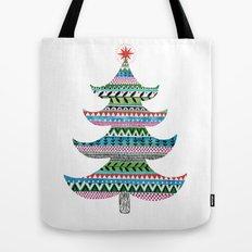 Christmas tree stripe Tote Bag