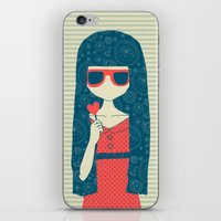 Lollipop girl iPhone & iPod Skin