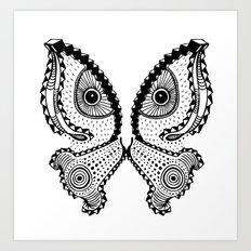Butterfleye Art Print