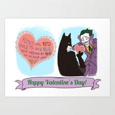 Valentine's Bat Art Print