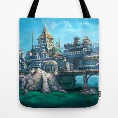 -City on the Big Bridge- Tote Bag