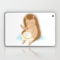 Hedgehog stitching a hedgehog Laptop & iPad Skin