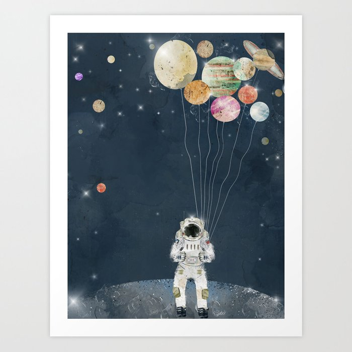 Sunday's Society6 astronaut space party