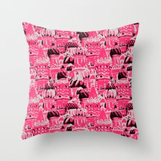 Russian Rooftop Pattern Throw Pillow