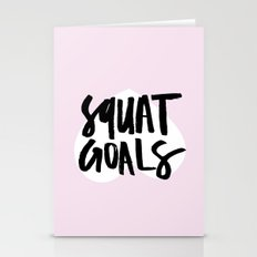Squat Goals Stationery Cards