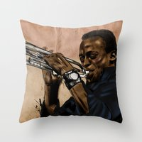 Miles, jazz will never be the same Throw Pillow
