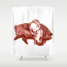 Sketchy Skull Shower Curtain