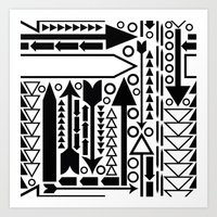 Arrows Pattern Art Print