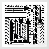 Arrows Pattern Art Print
