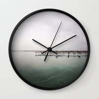 over the ice Wall Clock