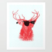 Young Buck. Art Print