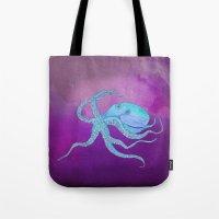 Octopus Swims Tote Bag