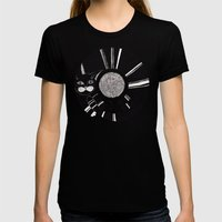 Cats Life: Playing Womens Fitted Tee Black SMALL