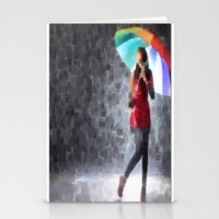 Rain Drops Stationery Cards