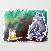 Bear Love Canvas Print