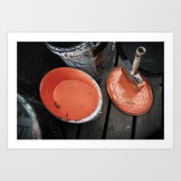 Urban Tools - Paint Brush Art Print