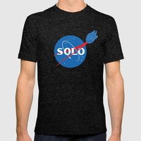 SOLO Mens Fitted Tee Tri-Black SMALL