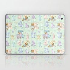 Teddy Bear Alphabet ABC's Green Laptop & iPad Skin