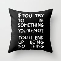 BEING NOTHING 2 Throw Pillow