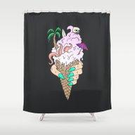 Shower Curtain featuring ENDLESS BUMMER by Wesley Bird