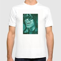 Keep Smiling Option Two! Mens Fitted Tee White SMALL
