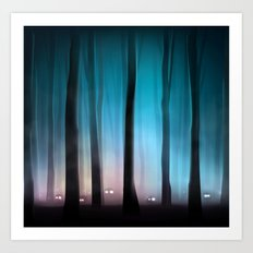 Spooky Forest Monsters Art Print