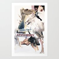 The camel that cried wolf Art Print
