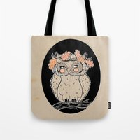 lady owl ready for the fall Tote Bag