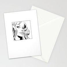 Vintage comic woman Stationery Cards