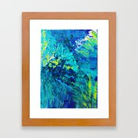 DIVE IN - Beautiful Text… Framed Art Print