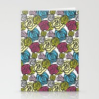 Bold roses Stationery Cards