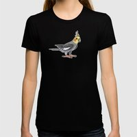 Cockatiel Womens Fitted Tee Black SMALL