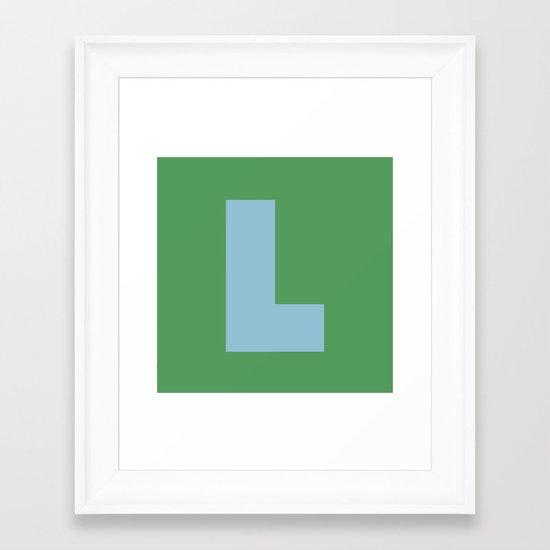 Light Blue L Framed Art Print