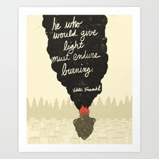 Endure Burning - Viktor … Art Print