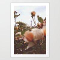 Flowers grow in Paris Art Print
