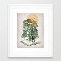 Framed Art Print featuring Jungle Book by David Fleck