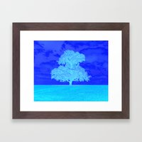Double Tree Framed Art Print